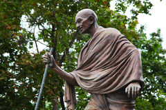 Mahatma Gandhi. The monument in Moscow. Stock Images