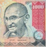 Mahatma Gandhi nella rupia indiana Immagine Stock