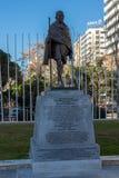 Mahatma Gandhi pomnik przy Paseo De Los angeles Castellana ulicą w mieście Madryt, Hiszpania Zdjęcia Royalty Free