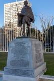 Mahatma Gandhi pomnik przy Paseo De Los angeles Castellana ulicą w mieście Madryt, Hiszpania Obraz Royalty Free