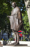 Mahatma Gandhi Statue in London. Statue of historic leader Mahatma Gandhi in Parliament Square, London Royalty Free Stock Photo