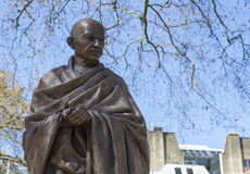 Mahatma Gandhi Statue in London Royalty Free Stock Photo