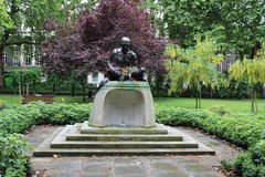 Mahatma Gandhi statue, Tavistock Square, London. The statue of Mahatme Gandhi sculpted by Fredda Brilliant in Tavistock Square in the London Borough of Camden Royalty Free Stock Photo