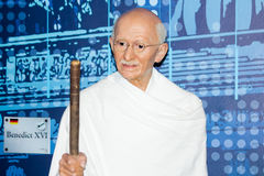 Mahatma Gandhi wax figure Royalty Free Stock Images
