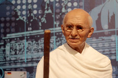 Mahatma Gandhi. Wax statue at Madame Tussauds in London stock photo