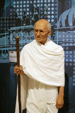 Mahatma Gandhi. Wax statue at Madame Tussauds in London stock photos