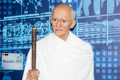 Mahatma Gandhi wosku postać obrazy royalty free