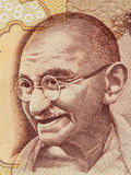 Mahatma- Gandhiporträt auf Inder 500-Rupien-Banknotenmakro, Indi Stockbilder