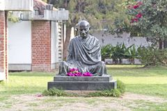 Mahatma Gandhis pomnik w Ahmedabad obrazy royalty free