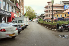 Mahatma Gandi Road in Panjim city Royalty Free Stock Images