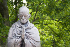 Mahatma Ghandi. BUDAPEST - CIRCA June 2013: Garden of Philosophy, Monument on Gellért Hill, by sculptor Nandor Wagner, consists of eight bronze statues. The Stock Image