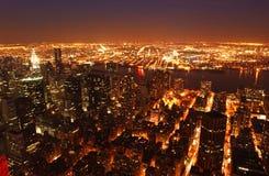 mahattan взгляд ночи Стоковое фото RF