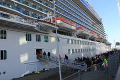 Boarding Cruise Ship Stock Photos