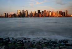 Mahattan am Sonnenuntergang Lizenzfreies Stockfoto