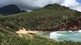 Mahaulepu Heritage Trail on Kauai Island in Hawaii. stock video footage