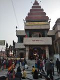 MAHAVEER TEMPLE ,PATNA,INDIA. THIS TEMPLE PICTURE IS TAKEN AT EARLY MORNING IN WINTER Stock Photo