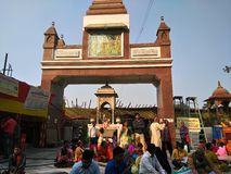 MAHAVEER TEMPLE ,PATNA,INDIA. THIS PICTURE IS TAKEN AT MORNING IN WINTER stock photography