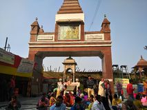 MAHAVEER TEMPLE ,PATNA,INDIA. THIS PICTURE IS TAKEN AT MORNING IN WINTER royalty free stock image