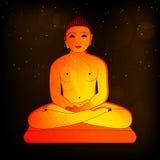 Mahavir Jayanti background. Illustration of Lord Mahavira for Mahavir Jayanti, also known as Mahavir Janma Kalyanak, the most important religious holiday which Royalty Free Stock Images