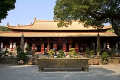 Mahavira hall. Of Chinese buddism temple Royalty Free Stock Images