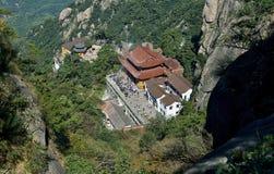 Mahavira Hall en la montaña de Jiuhua Imagen de archivo libre de regalías