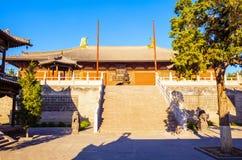 Mahavira Hall Up-Huayan świątynia. (Hall ceremonia) Fotografia Royalty Free