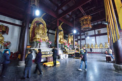 Mahavira Hall in YingJiang Temple Stock Photos