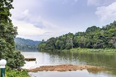 Mahaweli River, Sri Lanka stock images