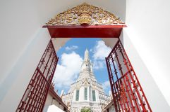 Mahawihan Wat Arun Ratchawararam Ratchawara Arkivfoton