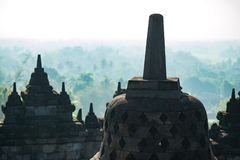 Borobudur indonesia temple stock image