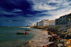Mahdija - panorama. Panoramic view of the coastal part of Mahdia -Tunis Stock Images