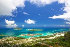 Mahe塞舌尔群岛海岸线 免版税库存图片