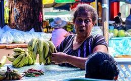 维多利亚市场, Mahe,塞舌尔群岛 免版税图库摄影