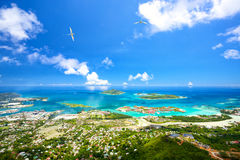 Mahe coastline Royalty Free Stock Image