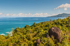 Mahe island coastline view, Seychelles Stock Photography