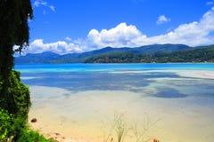 Mahe Island - Seychelles. Beautiful sea-beach at Baie Lazzare, Mahe Island, Republic of Seychelles Stock Images