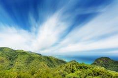 Mahe Long Exposure del sud, Seychelles Fotografia Stock