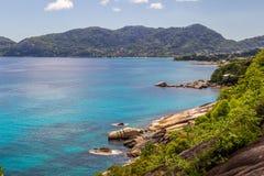 Mahe Seychelles - Beau Vallon imagenes de archivo