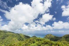 Mahe View del sud, Seychelles Immagini Stock Libere da Diritti