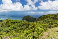 Mahe View del sud, Seychelles Fotografie Stock