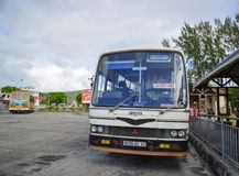 Local bus at Mahebourg station in Mauritius Royalty Free Stock Photography