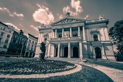 Mahelovo divadlo i Brno, Tjeckien arkivfoton