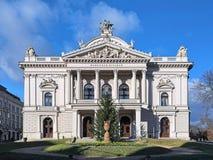 Mahen teaterMahenovo divadlo i Brno, Tjeckien royaltyfria foton