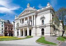 Mahen Theatre, Malinovsky square, town Brno, Moravia, Czech repu Stock Photography