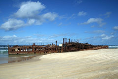 Maheno. The wreck of the Maheno, Fraser Island Stock Photo
