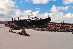 Maheno Shipwreck. SS Maheno Shipwreck, Fraser Island, Australia Stock Photo