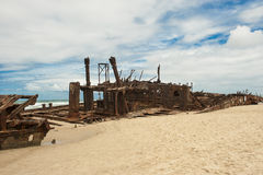 Shipwreck Fraser Island Stock Photography