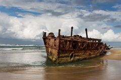 Shipwreck at Fraser Island Australia royalty free stock images