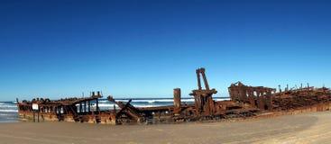 Maheno shipwreck at Fraser Island Royalty Free Stock Photo