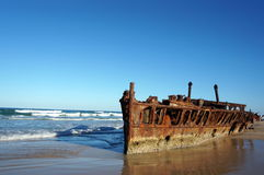 Maheno shipwreck at Fraser Island Royalty Free Stock Photo